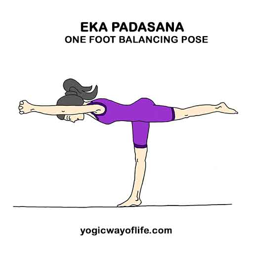Eka padasana - One Foot balancing Pose