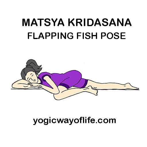 MATSYA KRIDASANA - Flapping Fish Pose