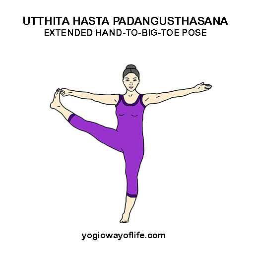 Utthita Hasta Padangushtasana - Extended Hand to Toe Pose