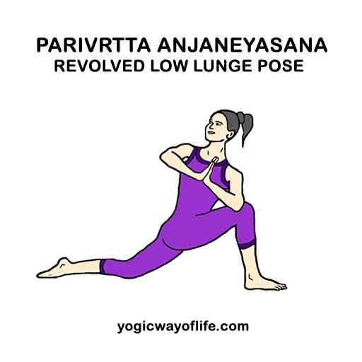 Parivrtta Anjaneyasana - revolved Lunge Pose