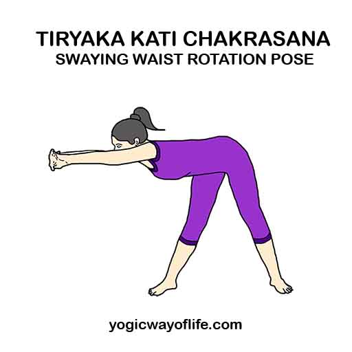 Tiryaka Kati Chakrasana - Swaying Waist Rotation Pose